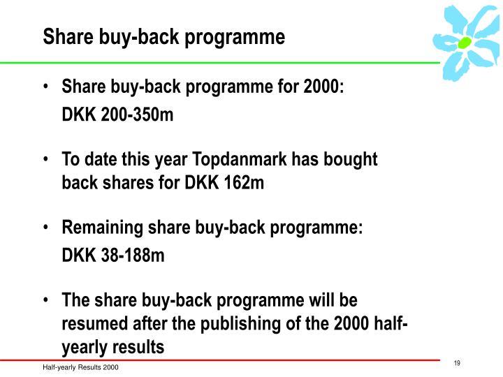 Share buy-back programme