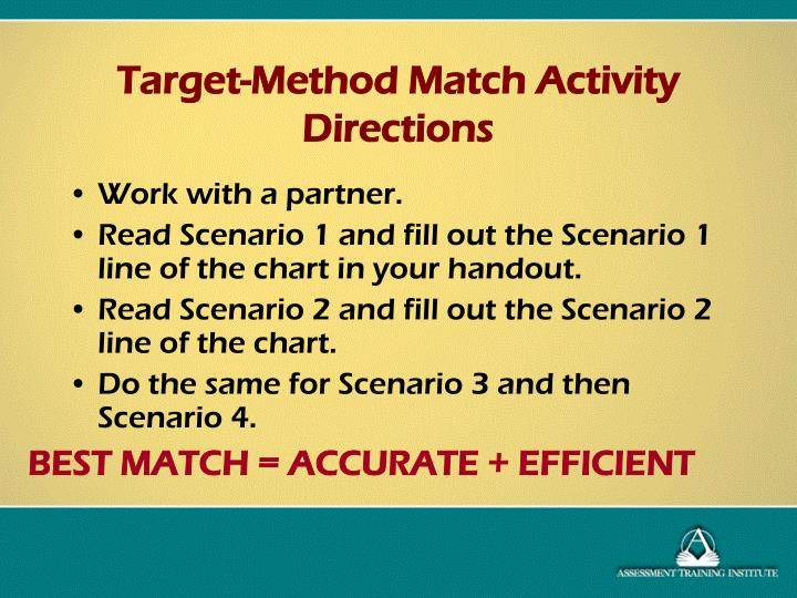 BEST MATCH = ACCURATE + EFFICIENT