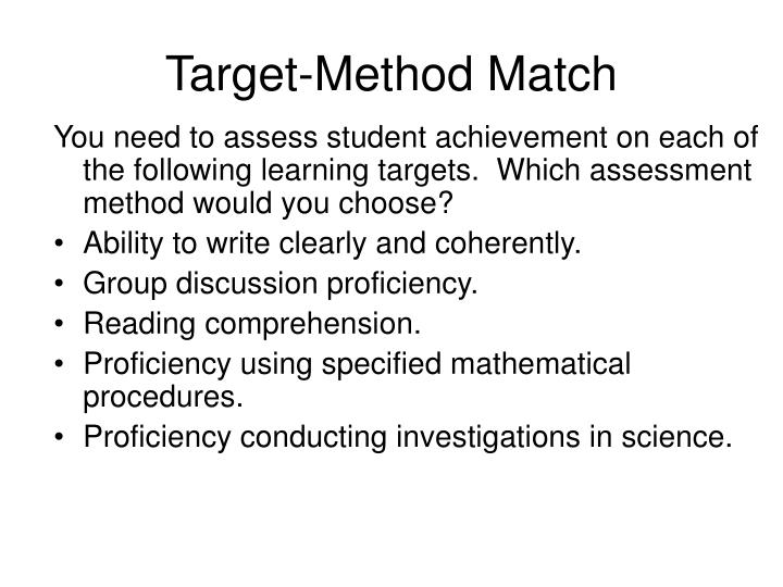 Target-Method Match