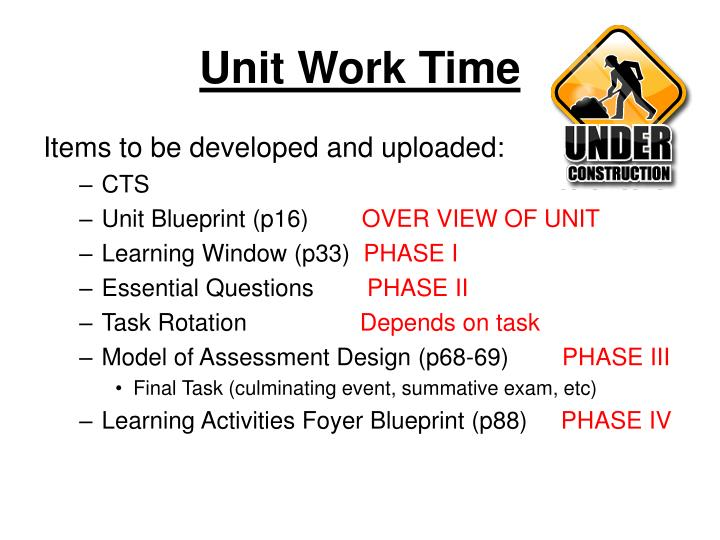 Unit Work Time