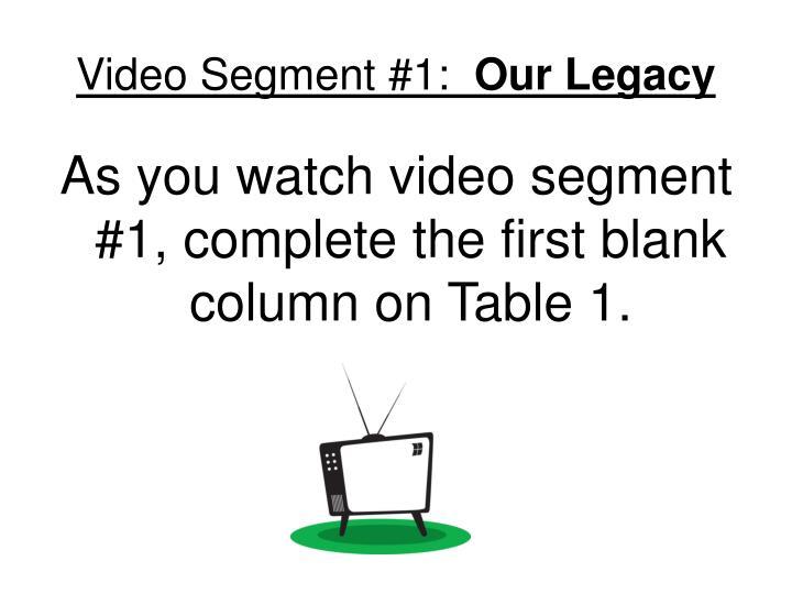 Video Segment #1: