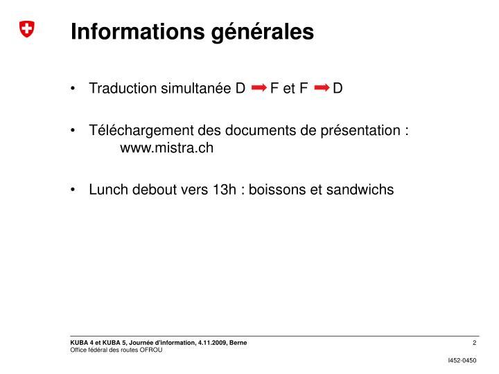 Informations générales