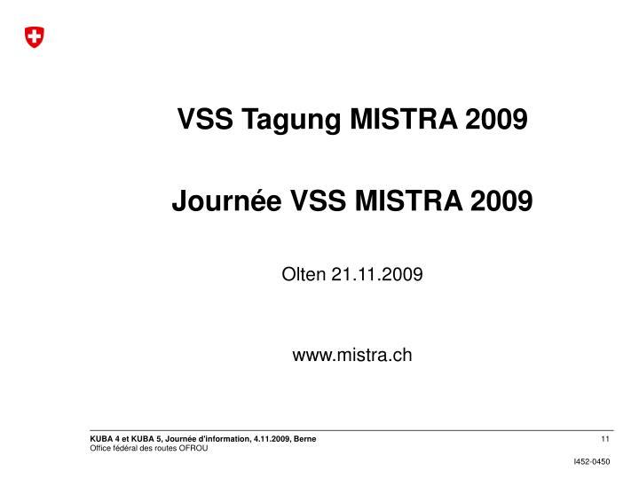 VSS Tagung MISTRA 2009