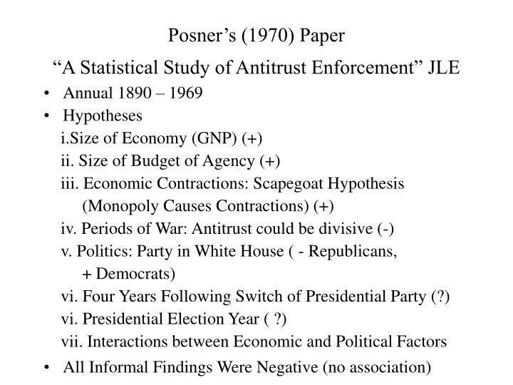 Posner's (1970) Paper