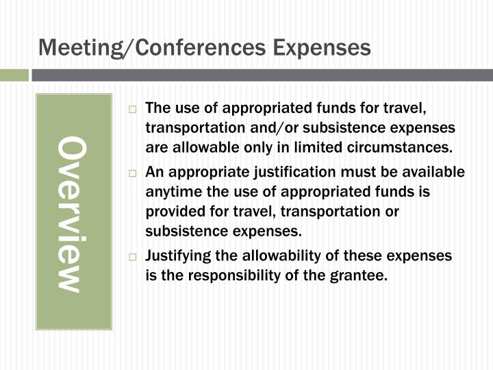 Meeting/Conferences Expenses
