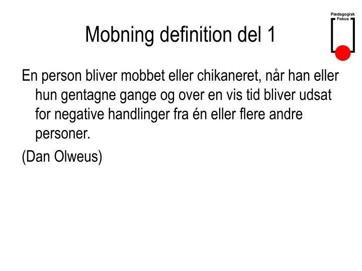 Mobning definition del 1