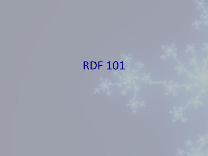 RDF 101