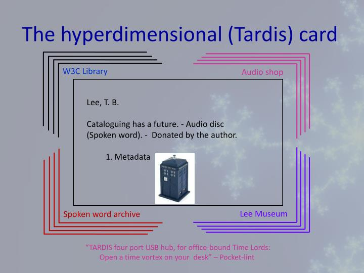 The hyperdimensional (Tardis) card