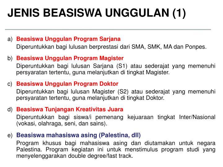 JENIS BEASISWA UNGGULAN (1)