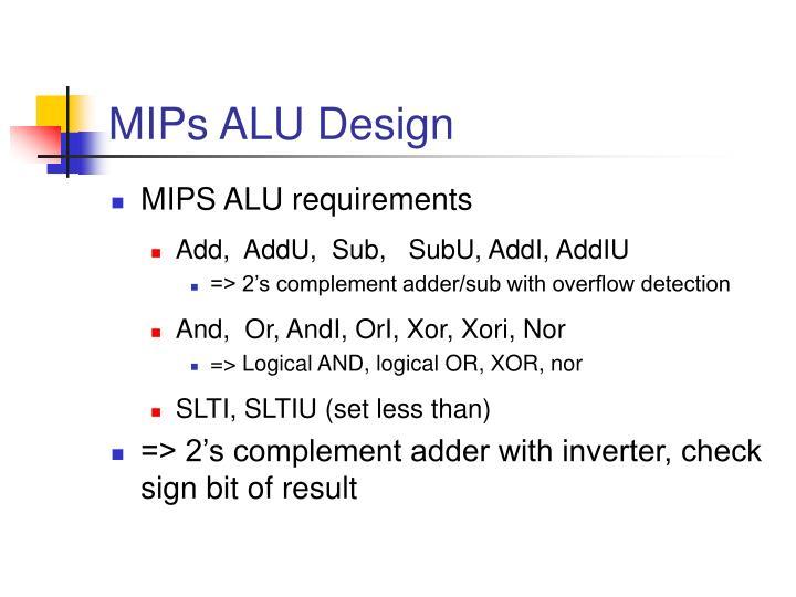 MIPs ALU Design