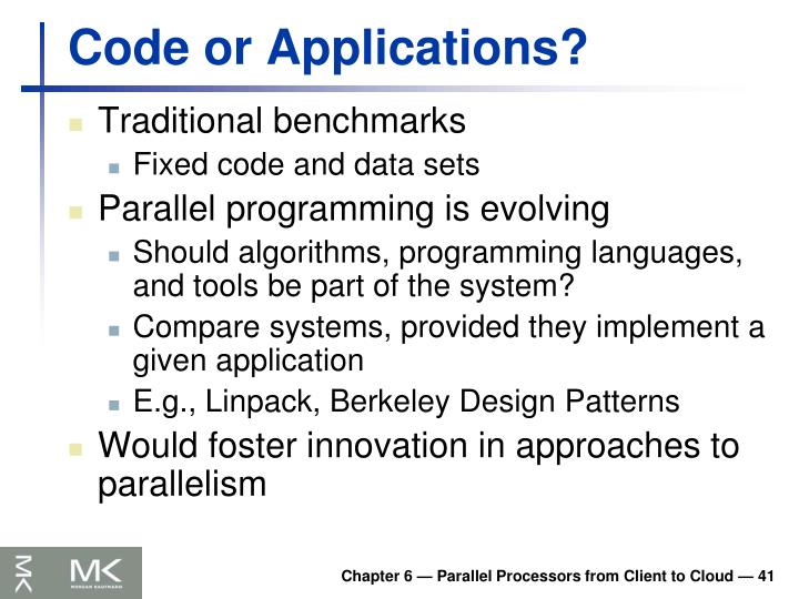Code or Applications?
