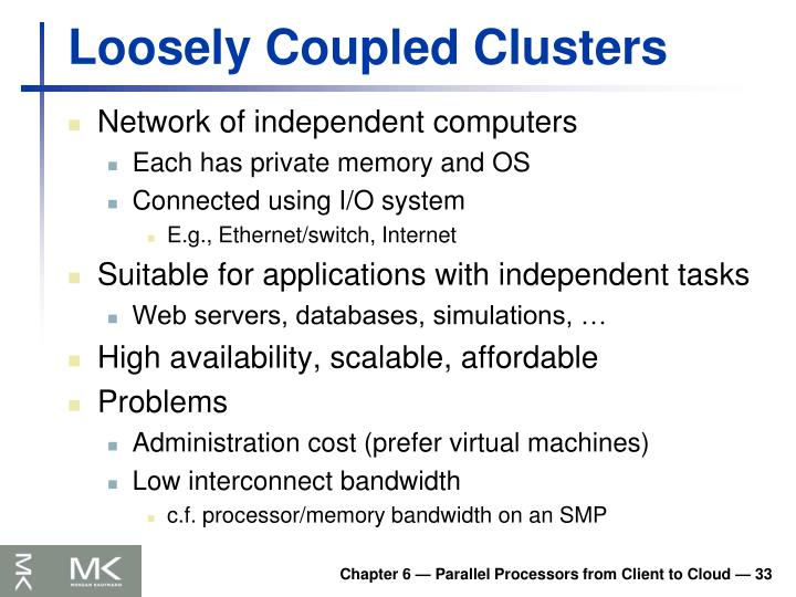 Loosely Coupled Clusters