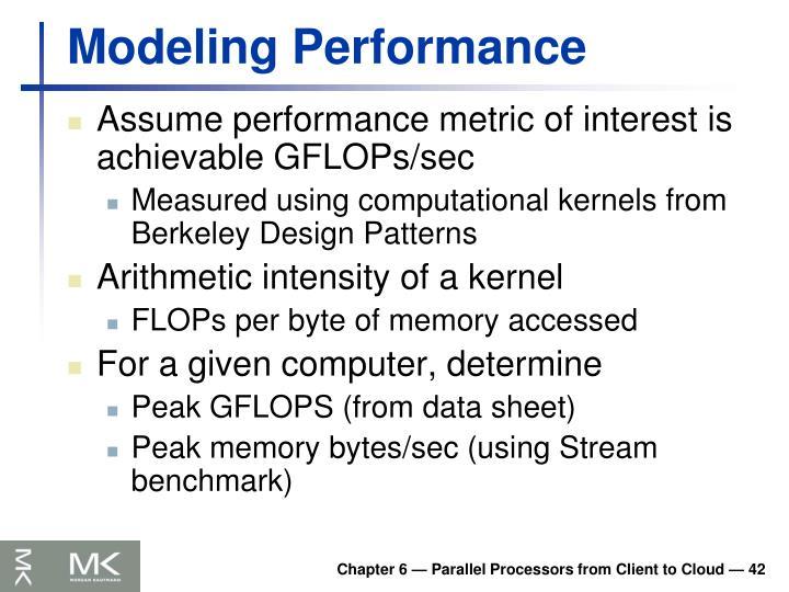 Modeling Performance