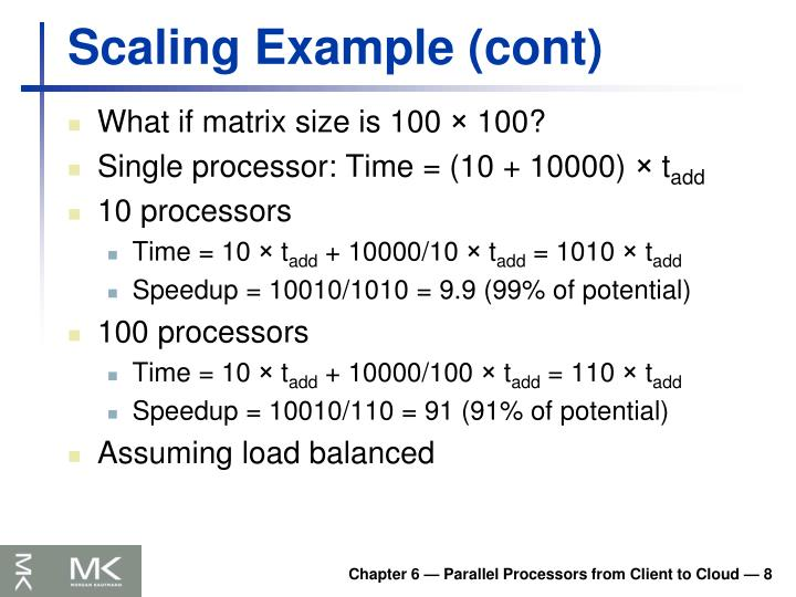 Scaling Example (cont)