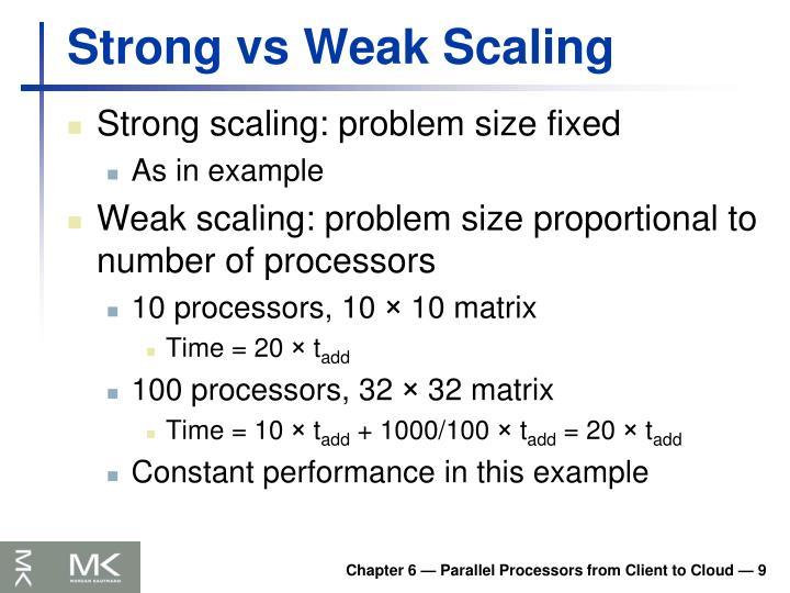 Strong vs Weak Scaling