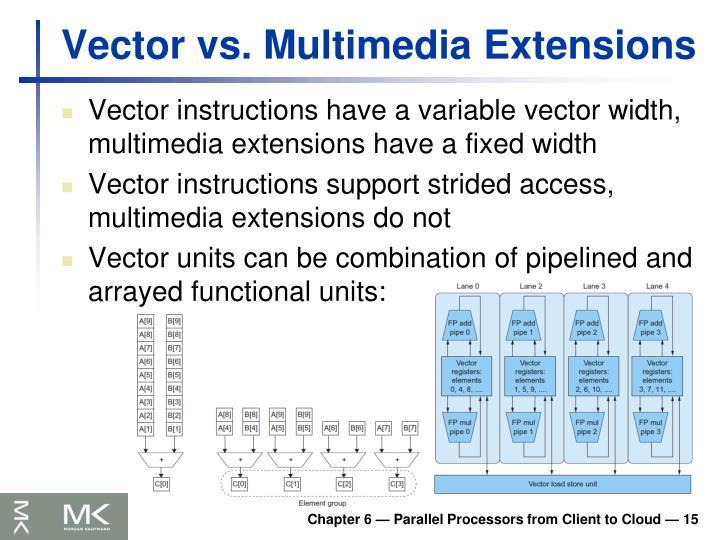 Vector vs. Multimedia Extensions