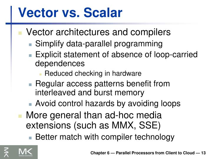 Vector vs. Scalar