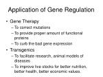 application of gene regulation