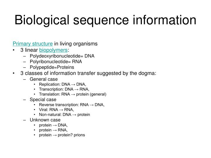 Biological sequence information