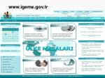 www igeme gov tr