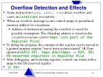 overflow detection and effects