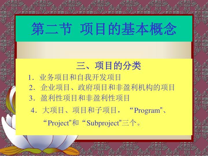 第二节  项目的基本概念