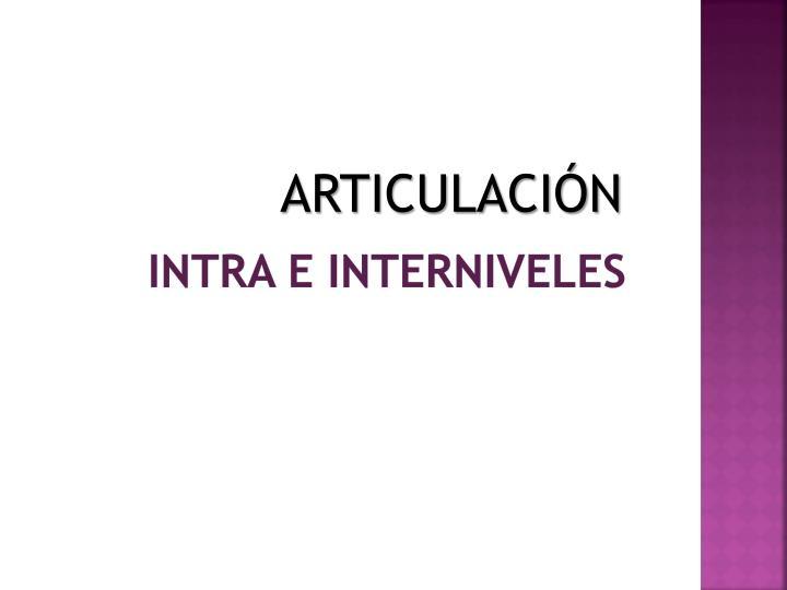ARTICULACIÓN