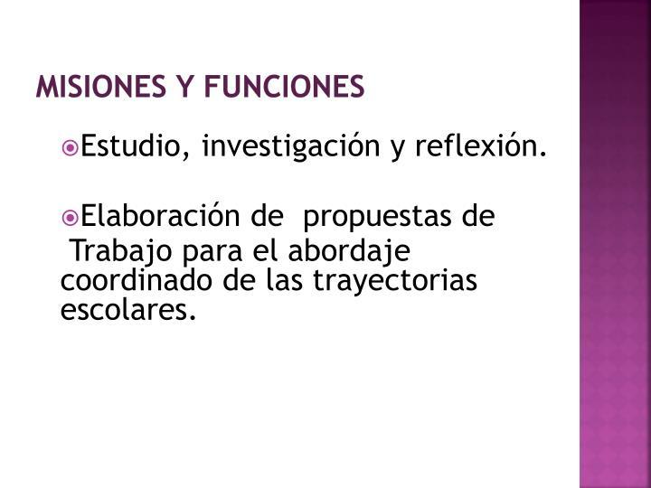 misiones y funciones
