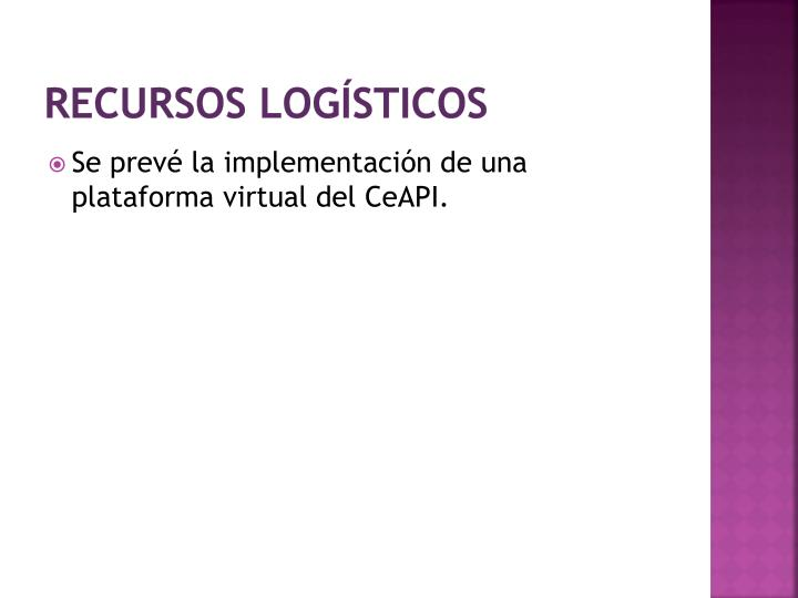 Recursos logísticos