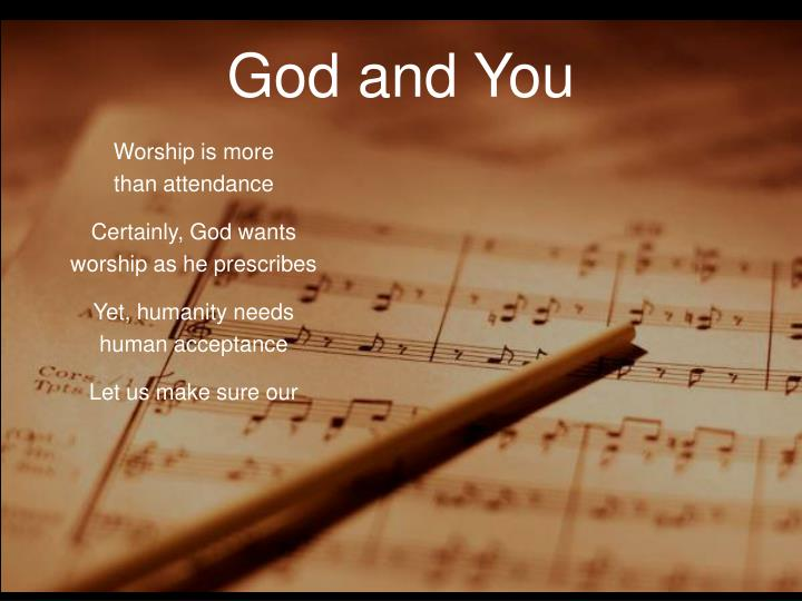 Worship is more