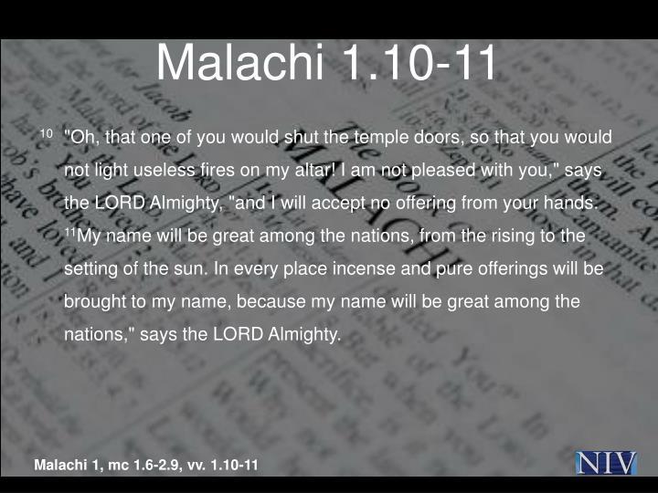 Malachi 1.10-11
