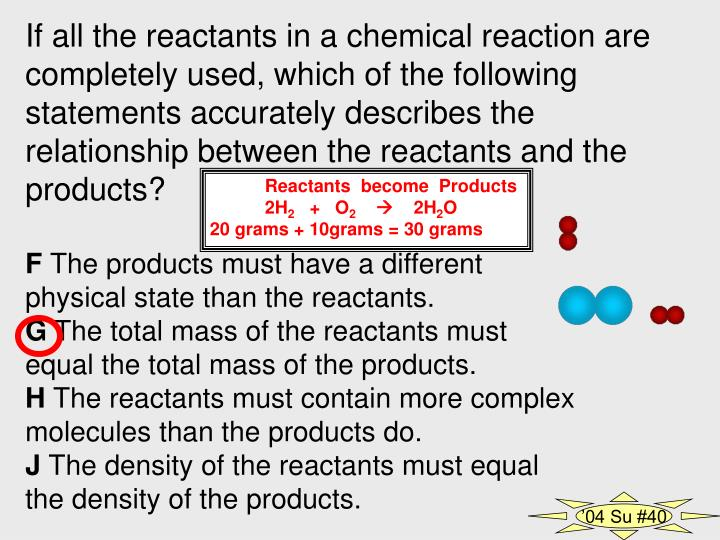 If all the reactants in a chemical reaction are