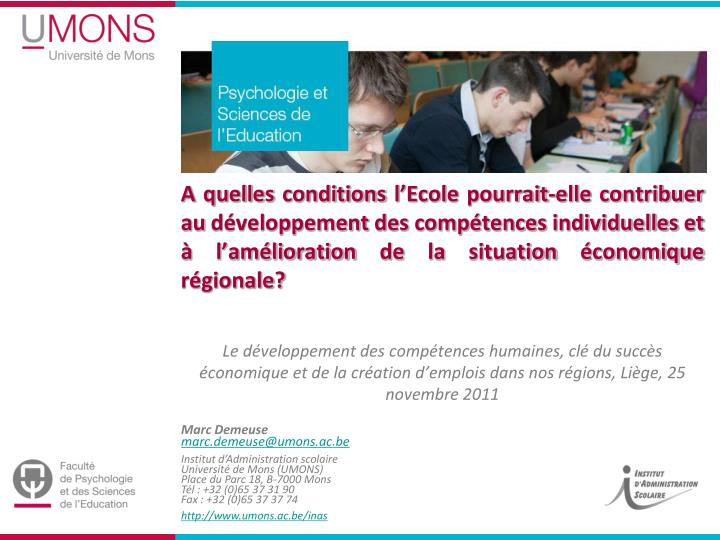 A quelles conditions l