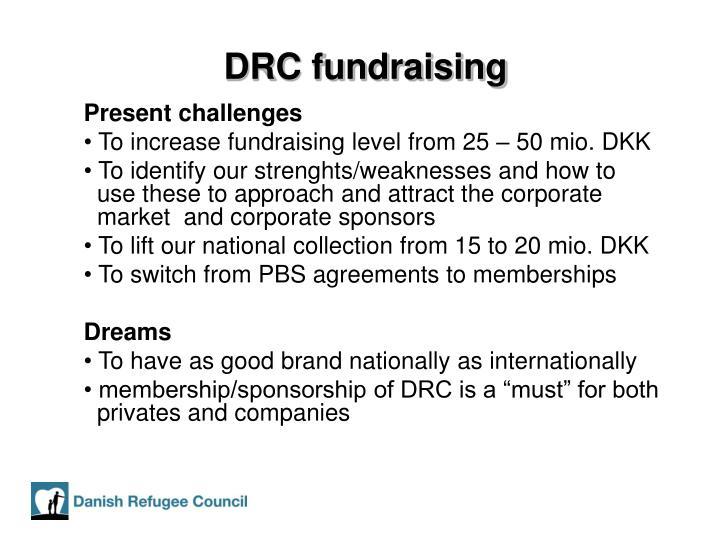 DRC fundraising
