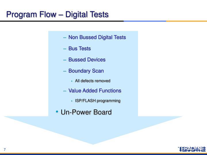Program Flow – Digital Tests
