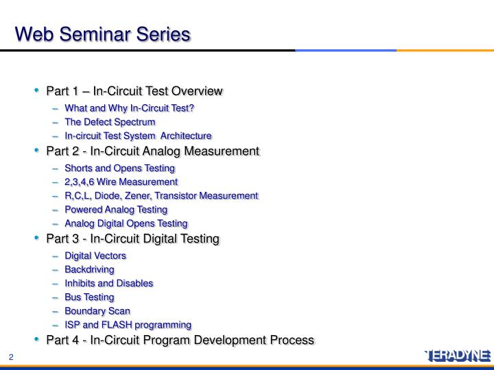 Web Seminar Series