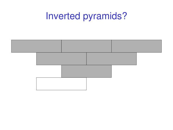 Inverted pyramids?