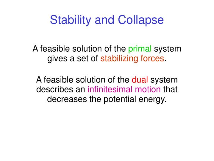 Stability and Collapse