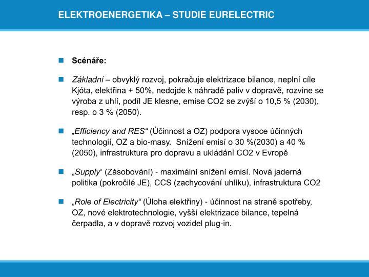 ELEKTROENERGETIKA – STUDIE EURELECTRIC