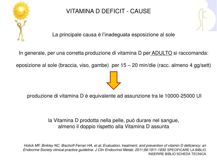 VITAMINA D DEFICIT - CAUSE