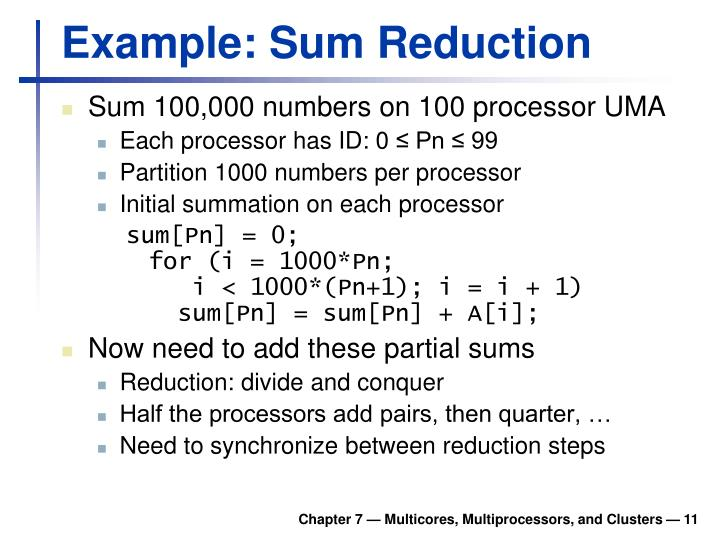 Example: Sum Reduction