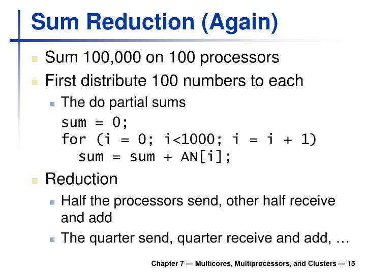 Sum Reduction (Again)