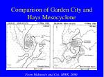 comparison of garden city and hays mesocyclone