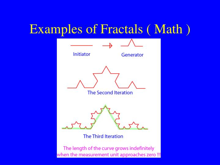 Examples of Fractals ( Math )