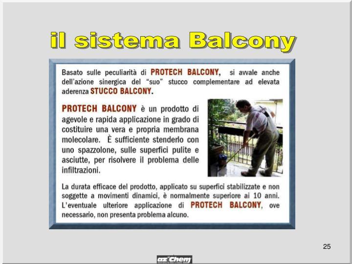 il sistema Balcony