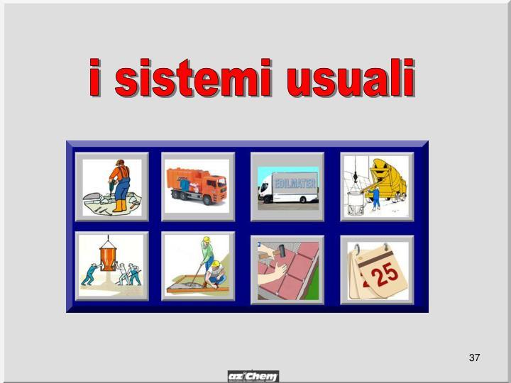 i sistemi usuali