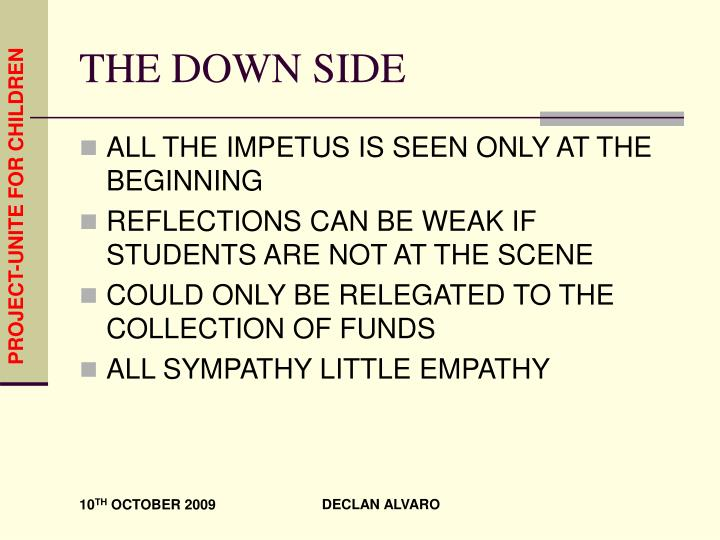 THE DOWN SIDE