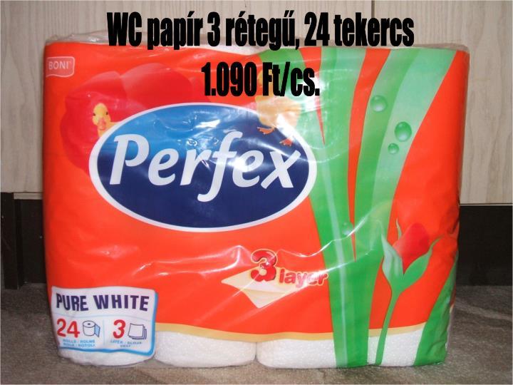 WC papír 3 rétegű, 24 tekercs