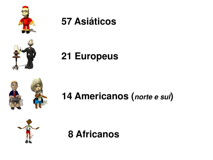 57 Asiáticos