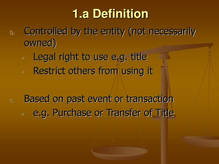 1.a Definition